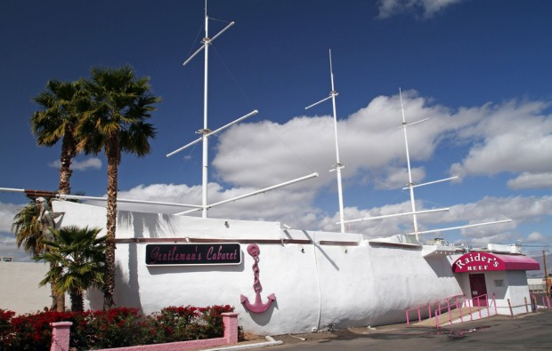 Tucson Oddity: Clipper-shaped building firmly anchors a strip club